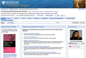 Front page of Undergraduate/Postgraduate Medicine LibGuide