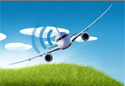 Airplane with wi-fi signal