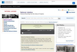 Screen shot of new National Jukebox website.