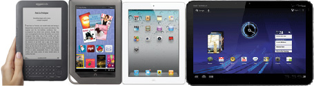 e-Readers: Kindle, Nook, iPad, Xoom