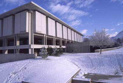 Marriott Library winter scene