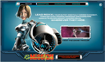 screenshot of Re-Mission game