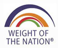 "logo for ""Weight of the Nation"" campaign to fight obesity"
