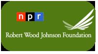 logos for NPR and RWJF