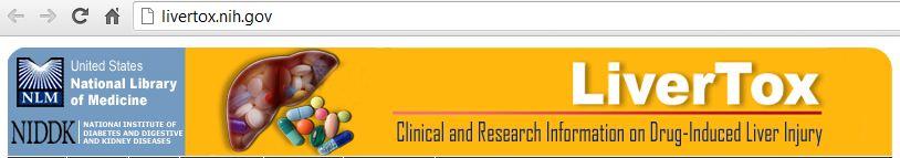 LiverTox Database banner