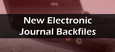 new electronic journal backfiles