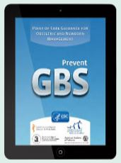 image of the Prevent GBS app screen