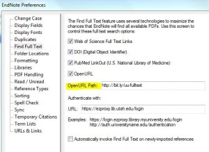Image of EndNote Preferences