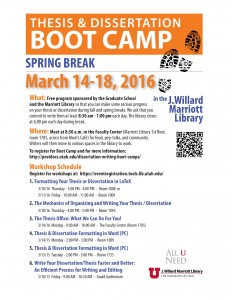 Boot Camp Flyer SP2016