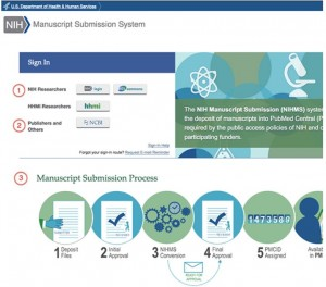 Image of NIH Manuscript Submission System