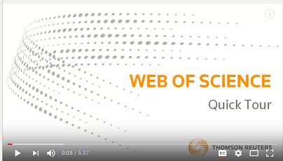Web of Science Quick Tour