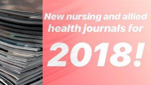 New Nursing Journals 2018
