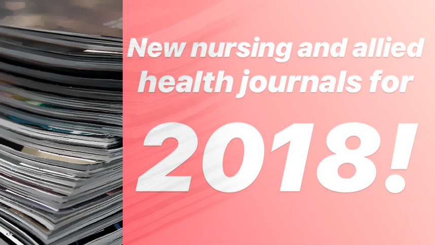 New Nursing Journals 2018
