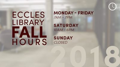 EHSL Fall Hours 2018