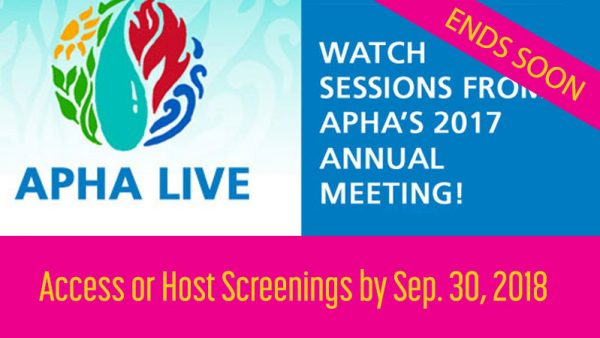 APHA LIVE 2017 Annual