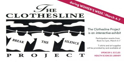 The Clothesline Project [Violence Against Women - Changing Perspective]