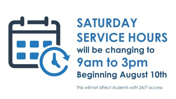 saturday hours changing to 9 to 3