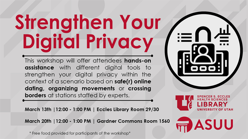 digital privacy workshop flyer