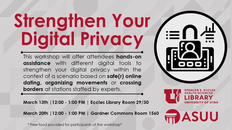 digital privacy workshop flyer