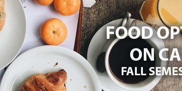 Food on campus 2020