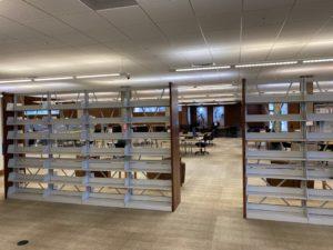 shelves with no books