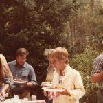 Mary Youngkin, Doug Youngkin, Linda Newman, Carlos Eyzaguirre, Priscilla Mayden 10th Anniversary, 1981