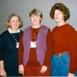 Nancy Dymock, Joan Stoddart, Kay McCloskey, Patricia Arter, and Mary Youngkin