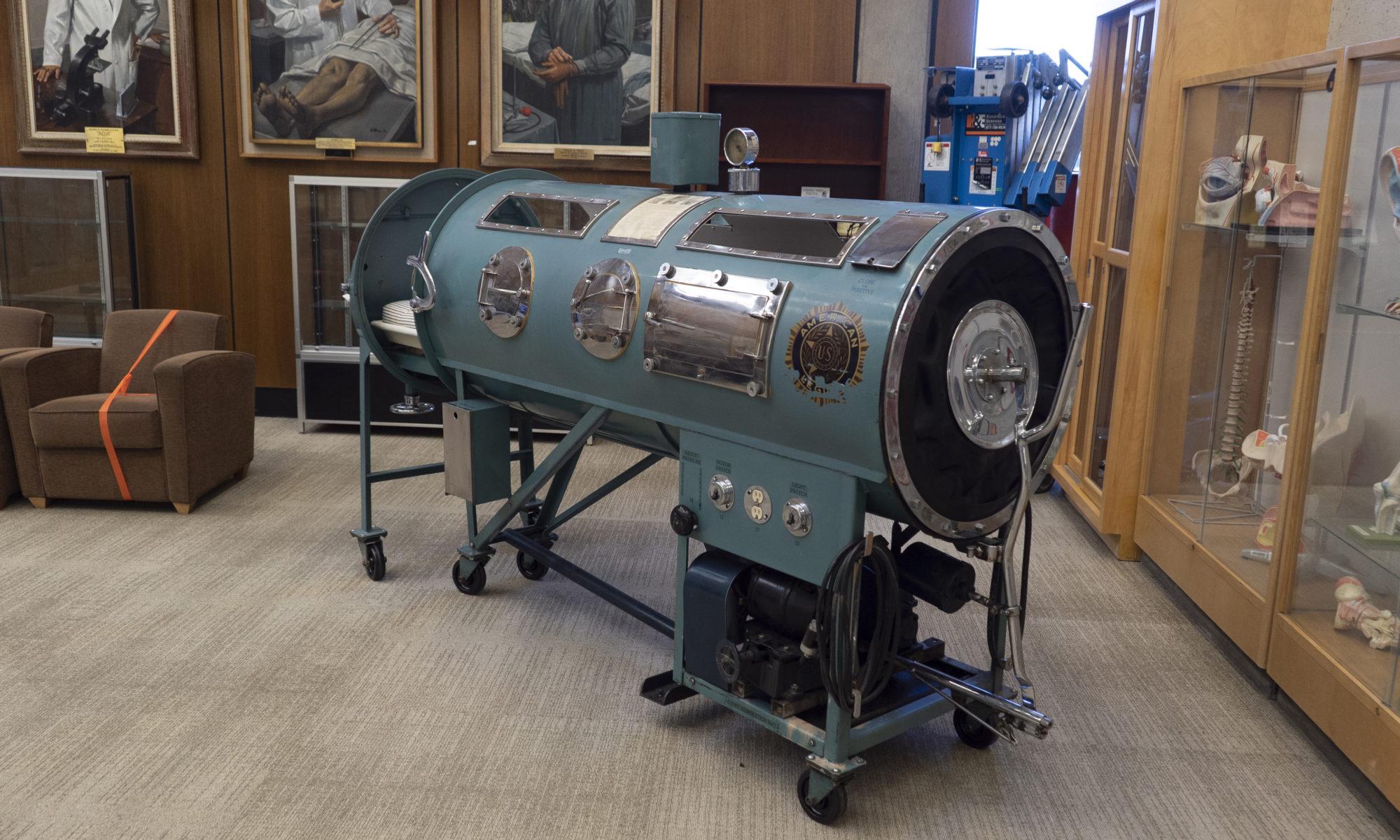 """""""Iron lung"""" - Emerson Respirator"""