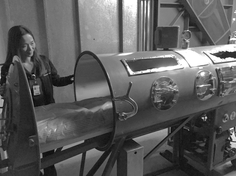 Iron Lung in the University of Utah Hospital attic