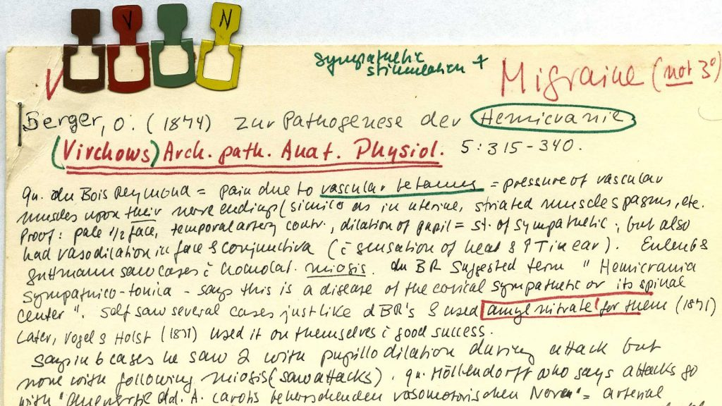 Irene Loewenfeld - index card