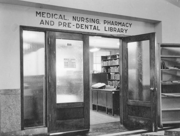 Medical, nursing, pharmacy, and pre-dental library department of the George Thomas Library at the University of Utah.