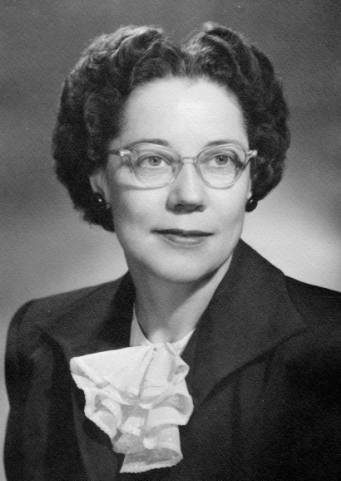 Portrait of Isabelle Anderson, first certified medical library at the University of Utah.