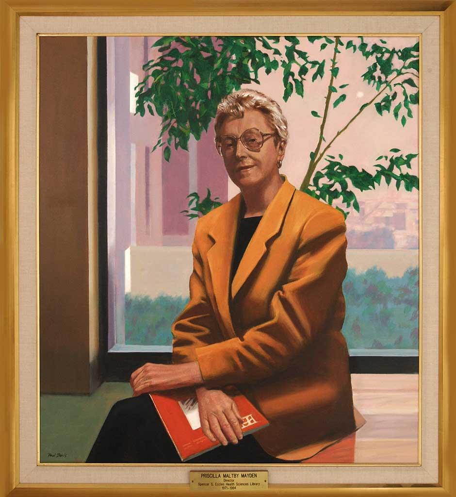 Priscilla M. Mayden Oil Portrait