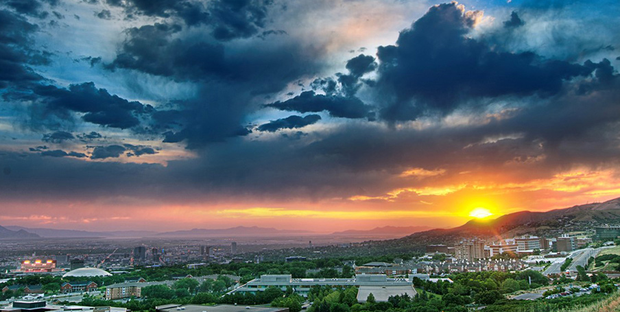 University of Utah, Salt Lake City, Utah, Sunset