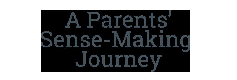 A Parents' Sense-Making Journey, (tagline)