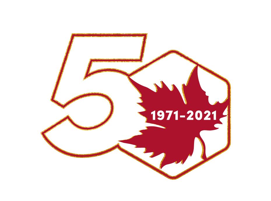 EHSl 50th Anniversary Leaf logo by Peter Strohmeyer