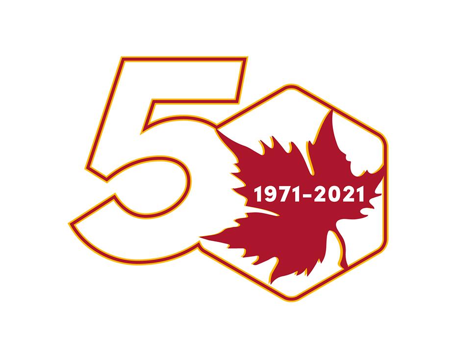 Eccles Health Sciences Library 50th Anniversary Logo